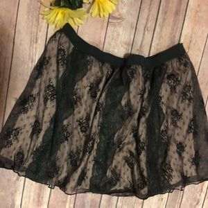 Black / Blush Lace Skirt